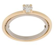 18kt 'Elipse' Gelbgoldring mit Diamanten