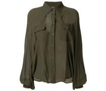 sheer military style shirt