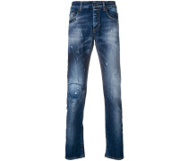 paint stain slim fit jeans
