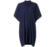 Drapierter Kleid mit V-Ausschnitt