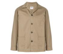 single breasted gabardine jacket