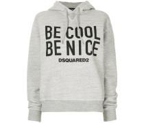 """Kapuzenpullover mit """"Be Cool Be Nice""""-Print"""