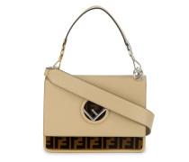 Cream & Brown Leather Kan I F handbag