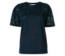 T-Shirt mit transparentem Sternemuster