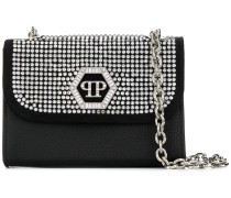 crystal embellished mini shoulder bag