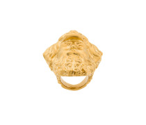 Statement-Ring mit Herkulesmaske