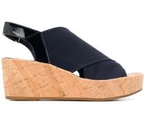 Slingback-Sandalen mit Wedge