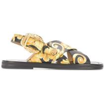 Sandalen mit Barock-Print
