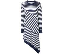 striped asymmetric knitted dress