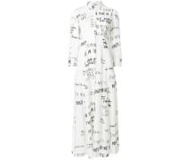 Kleid mit Signatur-Print