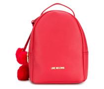 hearts embellished backpack