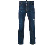 Cropped-Jeans mit geradem Bein