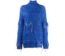 Grob gestrickter Pullover im Distressed-Look