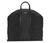 Handtasche mit gewebtem Einsatz
