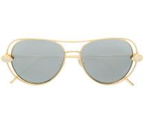 Swarovski crystal aviator sunglasses