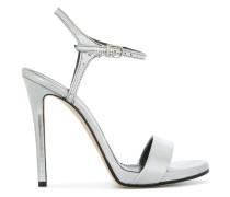cross strap sheen sandals