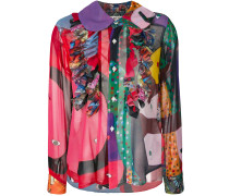 multi-pattern blouse