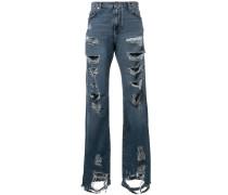 Jeans im Distressed-Lok