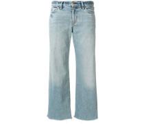 Cropped-Jeans mit ungesäumten Kanten