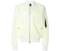 sheer casual bomber jacket