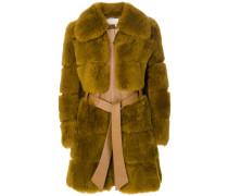 Mantel mit Shearling-Besatz