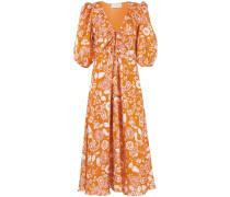 A-Linien-Kleid mit Blumen-Print