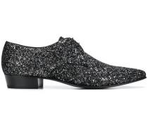 Glitzernde Derby-Schuhe