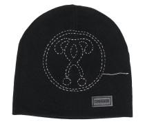 Wollmütze mit Logo-Stickerei