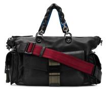 leather bowling handbag