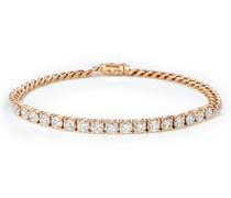 18kt Rotgoldarmband mit einem Diamanten