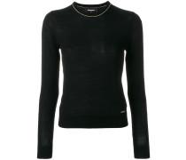 Pullover mit Metallic-Paspeln