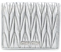Gestepptes Metallic-Portemonnaie