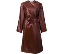 Texturierter Mantel mit Schleife