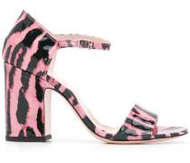 Sandalen mit Animal-Print