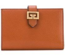 grained flap wallet