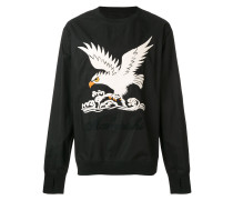 eagle embroidered sweatshirt