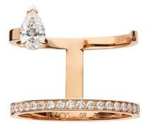 18kt 'Serti Sur Vide' Rotgoldring mit Diamanten