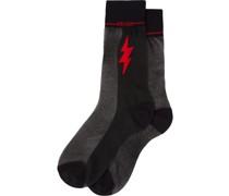 Socken mit grafischem Print