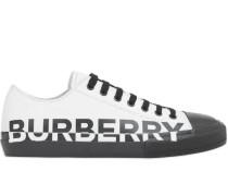 Gabardine-Sneakers mit Logo