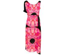 Asymmetrisches Kleid mit Print