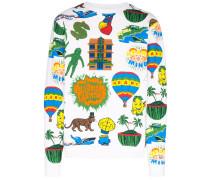 Sweatshirt mit Print-Mix