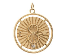 18kt yellow  large 28mm Karma medallion necklace