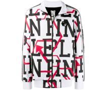 Sweatshirtjacke mit grafischem Print