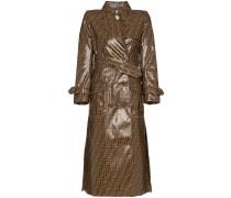 double F print plastic cotton blend trench coat