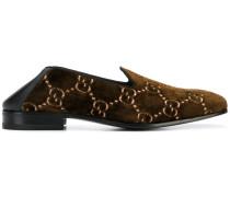 Loafer aus Samt mit GG