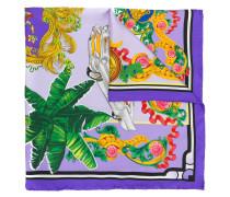 palm trees print scarf