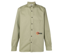 embroidered buttondown shirt