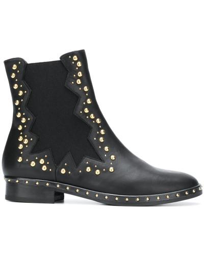 Chelsea-Boots mit V-Ausschnitt