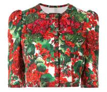 'Portofino' Cropped-Jacke mit Print