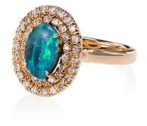18kt Gelbgoldring mit Opal